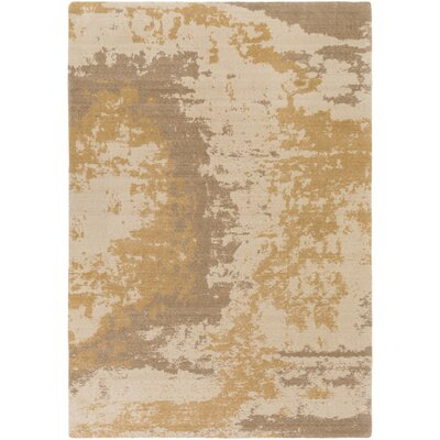 Jonas Rectangle Neutral/Brown Area Rug Rug Size: 53 x 76