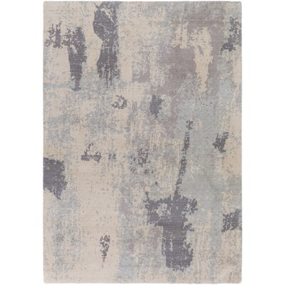 Jonas Rectangle Neutral/Blue Area Rug Rug Size: Rectangle 53 x 76