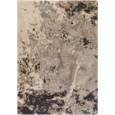 Jonas Neutral/Blue Area Rug Rug Size: 53 x 76