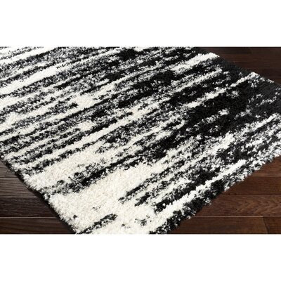 Grantham Black/Neutral Area Rug Rug Size: 53 x 73