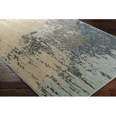 Barrow Beige/Blue Indoor Area Rug Rug Size: Rectangle 53 x 73