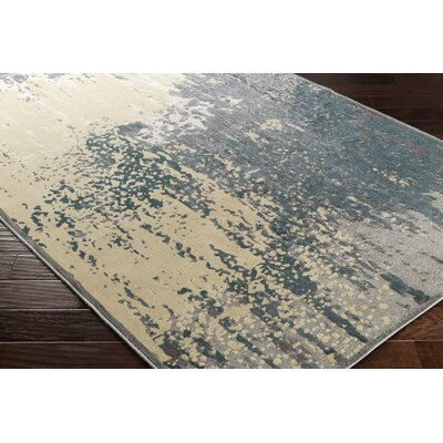 Barrow Retangle Beige/Blue Area Rug Rug Size: Rectangle 53 x 73