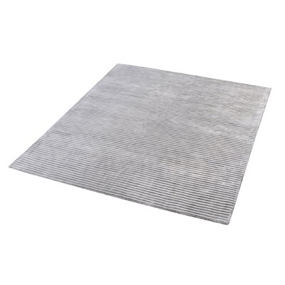 Lulu Hand-Woven Silver Area Rug Rug Size: Rectangle 5 x 8