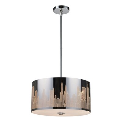 Canton 3-Light LED Drum Pendant