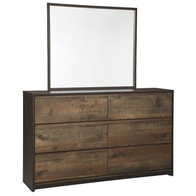 Taumsauk 6 Drawer Dresser with Mirror