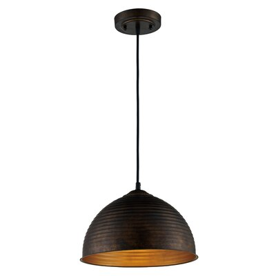 Jonah 1-Light Bowl Pendant