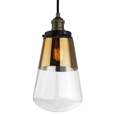 Jarne 1-Light Mini Pendant Finish: Painted Aged Brass / Dark Weathered Zinc, Type: Incandescent