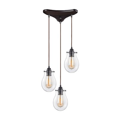 Sarita 3-Light Incandescent Cascade Pendant