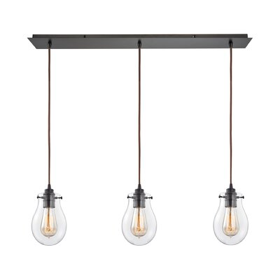 Sarita 3-Light Incandescent Kitchen Island Pendant