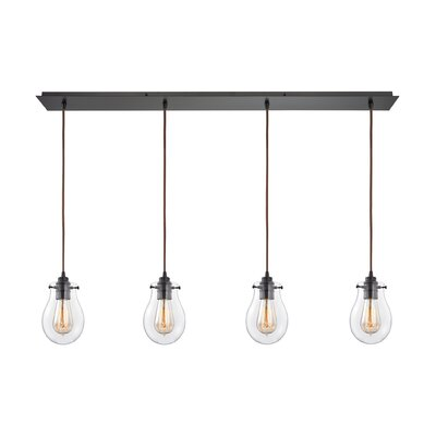 Sarita 4-Light Incandescent Kitchen Island Pendant