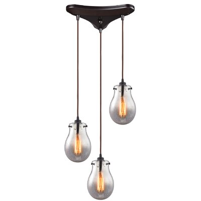 Sarita 3-Light Oil Rubbed Bronze Cascade Pendant