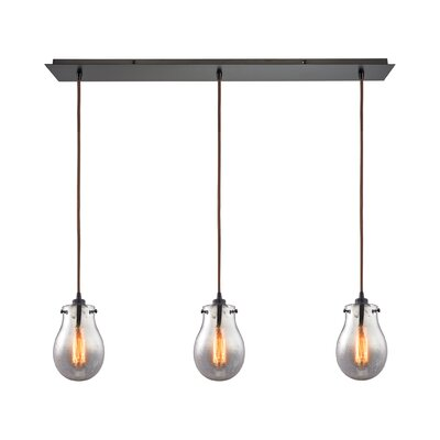Sarita 3-Light Oil Rubbed Bronze Kitchen Island Pendant