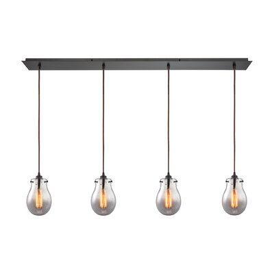 Sarita 4-Light Oil Rubbed Bronze Kitchen Island Pendant