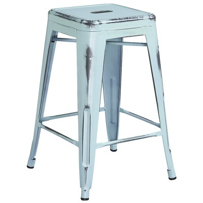 Lompoc 24 Bar Stool Finish: Distressed Dream Blue