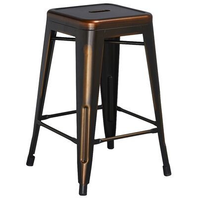 Lompoc 24 Bar Stool Finish: Deluxe Distressed Copper