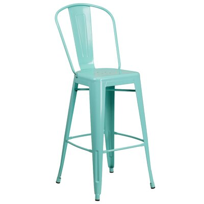 Cercis 30 Bar Stool Finish: Glossy Mint