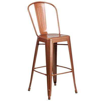 Cercis 30 Bar Stool Finish: Glossy Pure Copper