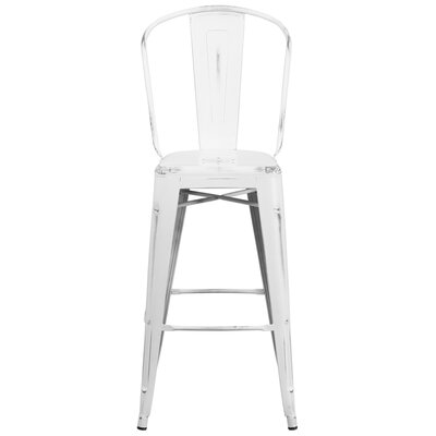 Cercis 30 Bar Stool Finish: Distressed White