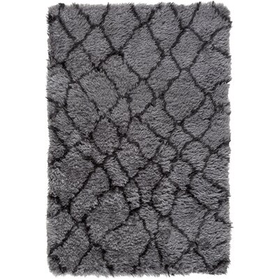 Rechanoi Gray/Black Area Rug Rug Size: 5 x 76
