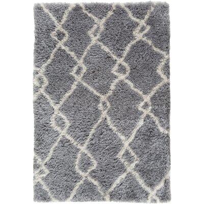 Rechanoi Gray/Beige Area Rug Rug Size: 5 x 76