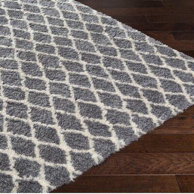 Rechanoi Trellis Gray/Beige Area Rug Rug Size: 8 x 10