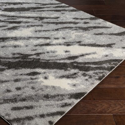 Danny Gray Indoor Area Rug Rug Size: Rectangle 53 x 76