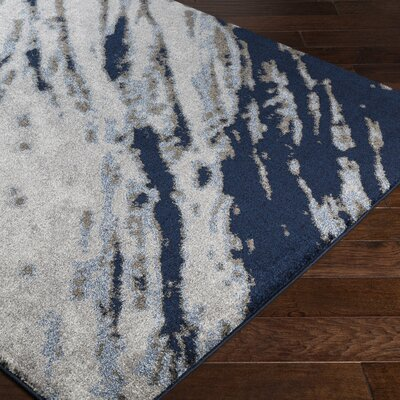 Danny Blue/Gray Area Rug Rug Size: Rectangle 2 x 33