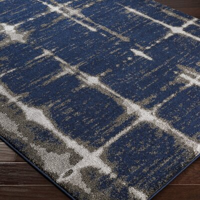 Danny Blue Indoor Area Rug Rug Size: Rectangle 53 x 76