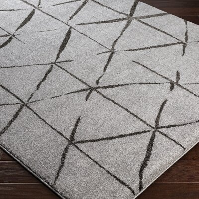 Danny Geometric Gray Area Rug Rug Size: Rectangle 5'3