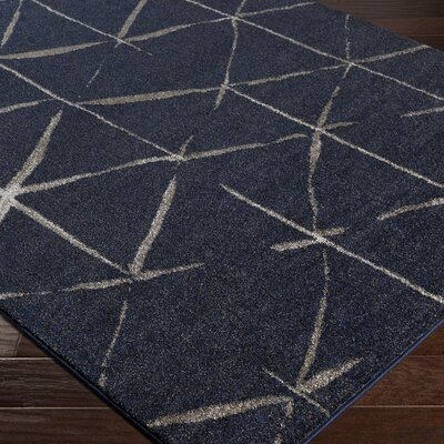 Danny Blue Area Rug Rug Size: Rectangle 710 x 1010