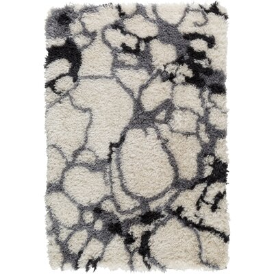 Keith White/Black/Gray Area Rug Rug Size: 8 x 10