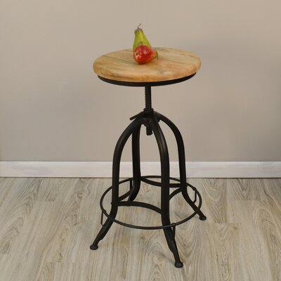 Nevada Adjustable Height Swivel Bar Stool Seat Color: Natural
