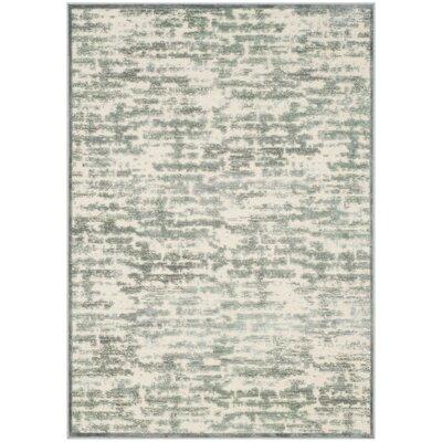 Birney Green/Beige Area Rug Rug Size: 4' x 5'7