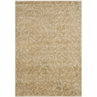 Sakura Hand-Tufted Light Brown/Cream Area Rug Rug Size: Rectangle 4' x 6'