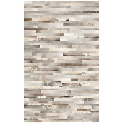 Sequoyah Hand-Woven Gray/Ivory Area Rug Rug Size: 8 x 10