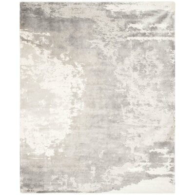 Roosevelt Hand-Knotted Gray/Ivory Area Rug Rug Size: Rectangle 6 x 9