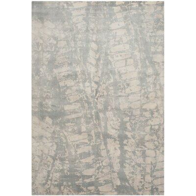 Lidia�dia Hand-Knotted Silk Gray Area Rug Rug Size: Rectangle 9 x 12