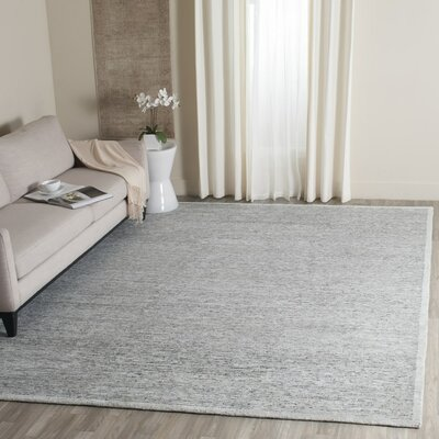 Lidia�dia Hand-Knotted Gray Area Rug Rug Size: Square 8