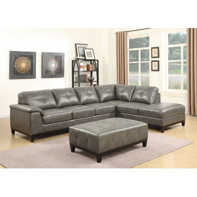 Lonato Chaise Sectional Upholstery: Gray