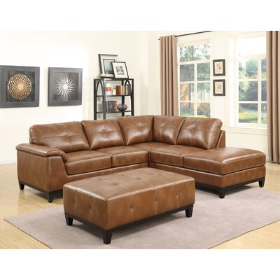 Lonato Chaise Sectional Upholstery: Chestnut