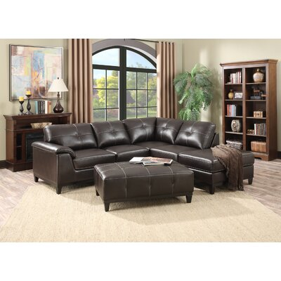 Lonato Chaise Sectional Upholstery: Walnut Brown