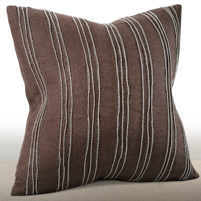 Ethan Linen Throw Pillow Color: Espresso