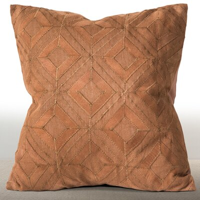 Isidro Linen/Suede Throw Pillow Color: Cognac