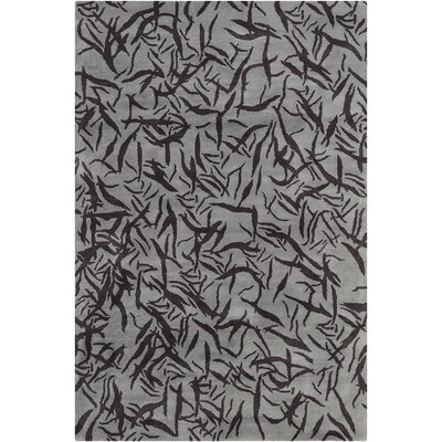 Cavour Hand Tufted Wool Gray/Charcoal Gray Area Rug