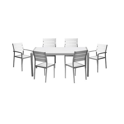 Giverny 7 Piece Dining Set Color: White