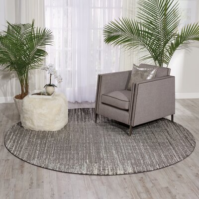 Stanton Abstract Gray Area Rug Rug Size: 99 x 139