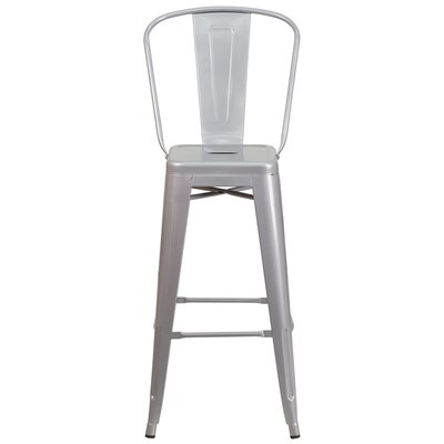 Cercis 30 Bar Stool Finish: Glossy Silver