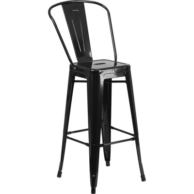 Cercis 30 Bar Stool Finish: Glossy Black