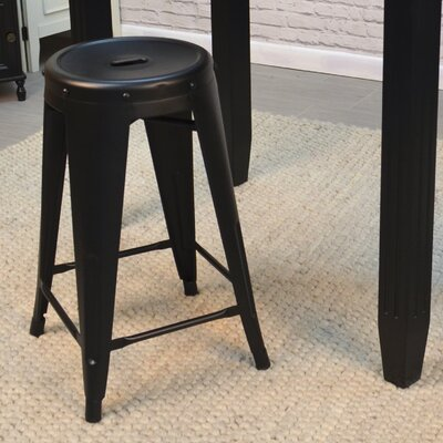 Santa Clara 24 Bar Stool Finish: Black