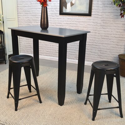 Santa Clara 24 inch Bar Stool Finish: Black